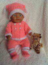 Knitting Pattern Only *02 ~ Carol Ann Designs Baby Born Size Doll Hat Set