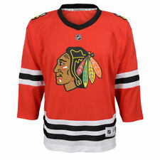 Preschool Ages 4-7 Chicago Blackhawks Red Premier Crest Blank Hockey Jersey