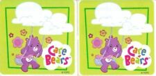 2 x Square Stickers ~ Show Day Fair Care Bears Party Favours Loot ~