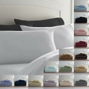 True Luxury Bed Sheets,Ultra Soft Authentic 600 TC Pure Cotton Bed Sheet Set