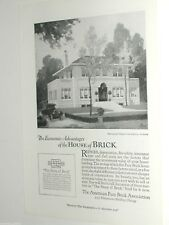 1920 American Face Brick Assoc. advertisement, vintage house construction