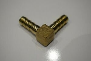 """8mm (5/16"""") Equal Hose Tail Elbow Connector in Brass for Fuel Air Water Etc"""
