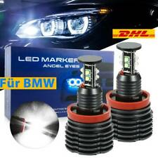 2× H8 LED Angel Eyes 120W Ringe Standlicht Für BMW E60/61/71/70/82 LCI E90/91