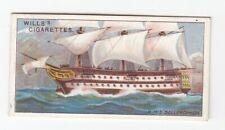 HMS Bellerophon (1786) Vintage 109 Year Old Ship Card Royal Navy Billy Ruffian
