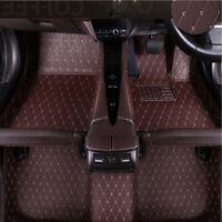 3PCS PU Leather Car PAD Floor Mats Carpets & Floor Mats Foot Pad Proctecter Set