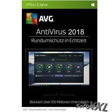 AVG AntiVirus 2018 * 3 PC * 2 Jahre * Vollversion * NEU * Lizenz