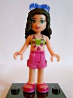 Lego Friends Mini figure - Emma - Bikini Top , Pink Shorts  New