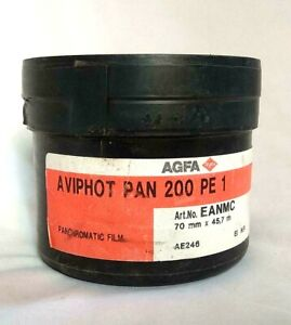 AGFA AVIPHOT PAN 200 PE 1 Panchromatic Film 70mm x 45.7 Mtrs, New Old Stock 2012