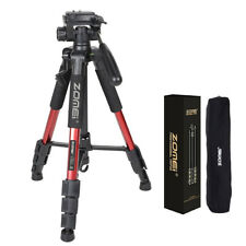 "Zomei 55"" RED Professional Aluminum Travel Tripod Panhead for Nikon DSLR Camera"