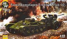 1/72 Panzerkampfwagen T-60 & Flak-30 MilitaryWheels 7258 Models kits