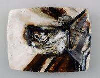 Jeppe Hagedorn-Olsen, danish. Ceramic dish, abstract motif. Denmark 1960s.