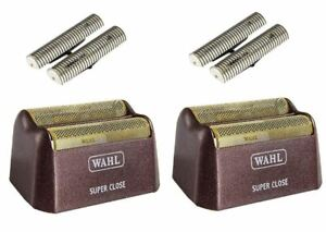 (2) - Wahl 5 Star Shaver Gold Replacement Foil & Cutter Bar Assembly Super Close