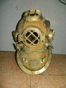 "U.S Navy Mark V-18"" Diving Helmet Antique Deep sea Scuba Divers Handmade replica"