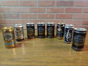 Set of 8 VTG Harley Davidson Beer Cans Collectibles