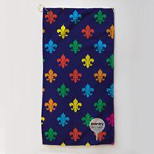 Golf Towel Everdry Microfiber Plus - Fleur de Lis - Multi coloured - 63x30cm