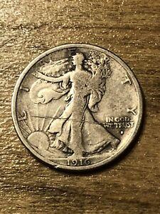 1916D Walking Liberty Half Dollar F