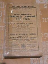 1923 Wisden Cricketers' Almanack Softback Edition.