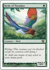BIRDS OF PARADISE Eighth Edition MTG Green Creature — Bird RARE