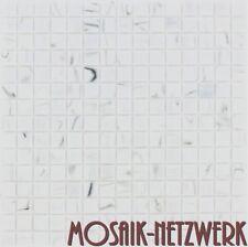 Mosaikfliese weiß marmoriert carrara Glasmosaik in 20x20x4m Art: ES-54-65592_b