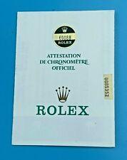 GENUINE ROLEX CERTIFICATE 1985 GUARANTEE GARANTIE CHRONOMETRE OFFCIEL 033