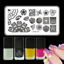 5pcs/set Watermarble Theme Nail Art Stamp Template Plate & Stamping Polish Kit