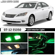 13x Green Interior License Plate LED Light Package Kit Fit Lexus ES350 2007-2012