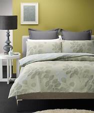 New WILLOW Green Grey Beige Sky Blue DOUBLE Size Quilt Doona Duvet Cover Set