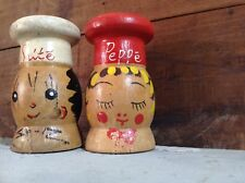 Vintage Salty And Peppery Salt And Pepper Shaker Set Kitchen Decor Free Shipping