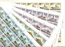 USSR 1982...n° 4945-49 MNH ** WORLD WAR II... WARSHIPS....( 5 Sheets )