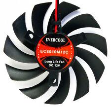 EverCool VC-EC8010M12C VGA Video Card Cooling Fan 12v 80x80x10mm 2 pin & 3 pin