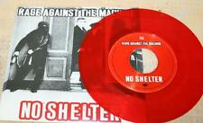 "RAGE AGAINST THE MACHINE No Shelter RARE RED COLORED 7"" VINYL 1998"