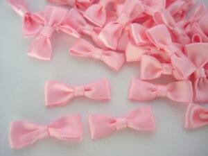 40 Light Pink Satin Simple Ribbon Bow Tie/wedding/trim/craft/baby/dress/doll F40