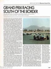 MEXICO/Mexican GRAND PRIX History Article / Picture / Photo: Formula One, F1,F-1