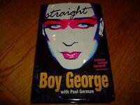BOY GEORGE-STRAIGHT-SIGNED-1ST-2005-HB-VG/NF-CENTURY-RARE