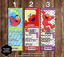 Elmo - Sesame Street - Birthday Ticket Invitation - 20 Printed W/envelopes