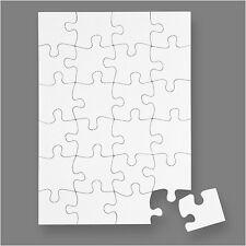 A5 Blank Jigsaw - Create Your Own Jigsaw Puzzle DIY Craft Pack of 16 Teach Me