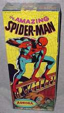 AURORA 1966 SPIDER MAN FACTORY SEALED MODEL KIT MINTY CLEAR CELLO BRIGHT COLORS!
