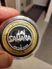 Sahara Casino .999 Silver Token. Excellent Condition.