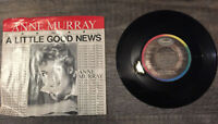 "Anne Murray A Little Good News Vinyl 7""45 RPM Single LP Vinul 1983 Folk Country"