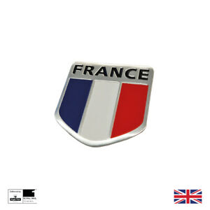 France Motorsport Racing Badge Emblem Car Badge Citroen Peugeot Renault