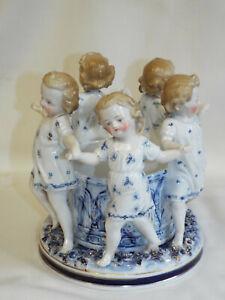 Charming antique Ernst Bohne Dancing Children centrepiece.