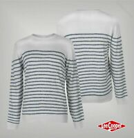 Mens Lee Cooper Crew Neck Knitted Horizontal Striped Jumper Sizes from S to XXL