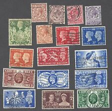 Great Britian - Seventeen Different Used Stamps