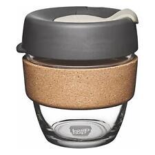 KeepCup Brew Reusuable Glass Coffee Cup Mug with Cork Band - 227ml / 8oz - Press