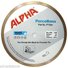 "10"" Alpha Porcellana Porcelain Wet Tile Diamond Saw Blade"