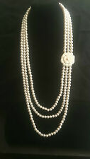 Alloy Strand/String Pearl Round Costume Necklaces & Pendants