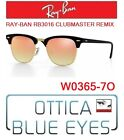 Occhiali da SOLE RAYBAN RB3016 CLUBMASTER REMIX 7O Sunglasses Ray Ban Black NEW