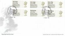 (43091) GB FDC PHILAKOREA Post and Go Windsor 2014