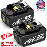 2Pack LED 4.0AH For Makita BL1860B 18V Li-ion Battery BL1840B BL1830B BL1850B US