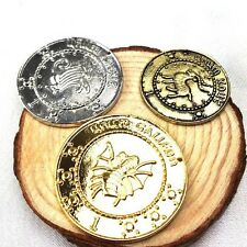 HARRY POTTER GRINGOTTS BANK COINS X3 COIN SET PROPS COSTUME *NEW* RARE SALE!